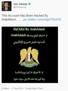 General Salangi's twitter account was hacked at 08:49 am Kabul Time.